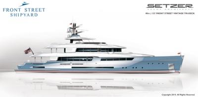 Front Street Shipyard Introduces Setzer-Designed Motoryachts