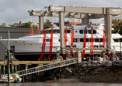 magic yacht at front street shipyard