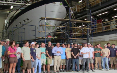 Governor LePage Tours Front Street Shipyard