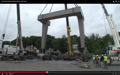 Front Street Shipyard Builds 485-ton Hoist