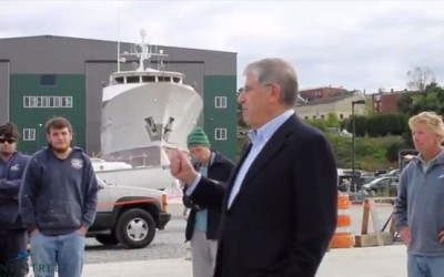 Eliot Cutler at Front Street Shipyard