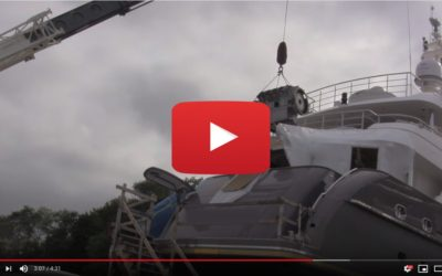 Video: Engine Removal from a 135-foot Motor Yacht