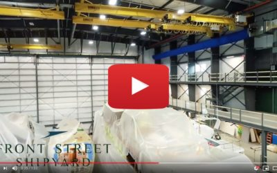 Front Street Shipyard Interior Drone Footage