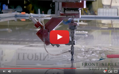 Video: Waterjet Cutting a Scroll